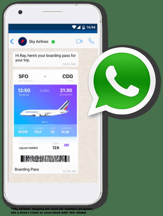 Text Global Business WhatsApp Messaging